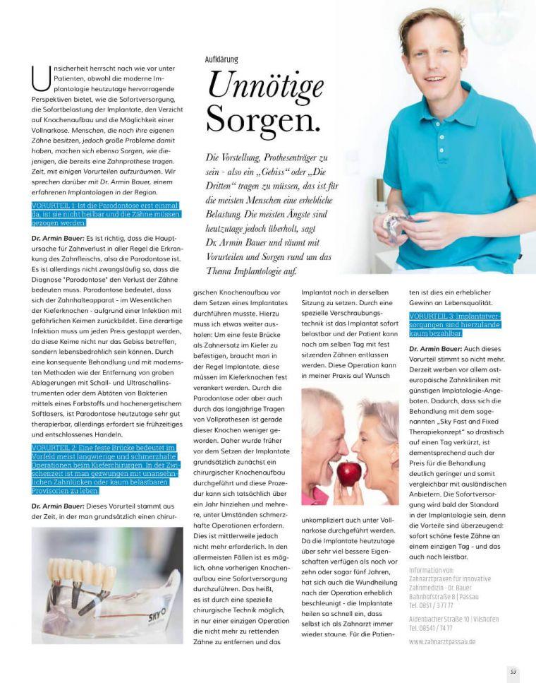 Paparazzi Artikel Dr. Bauer in Vilshofen